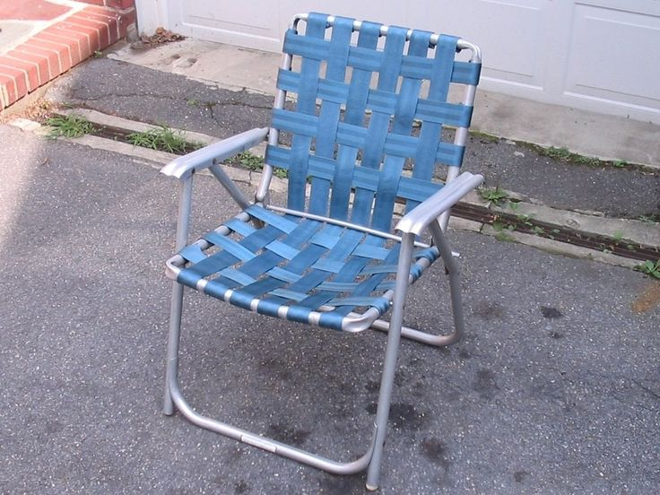 Aluminum Webbed Folding Lawn Chairs