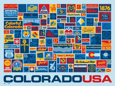 Now, where to put it. Thanks DDC!: Colorado Posters, Aaron Draplin, Picture-Black Posters, Draplin Design, Colorado Collected, Colorado Collection, Ddc 062 Colorado, Vintage Travel Posters, Colorado Usa