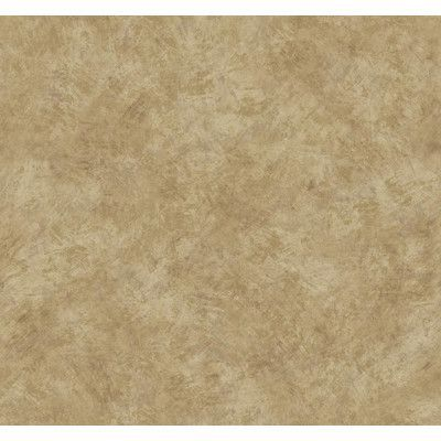 "York Wallcoverings Texture Portfolio Brushstroke 27' x 27"" Solid Smooth Wallpaper Color: Cream/Cocoa/Tan"