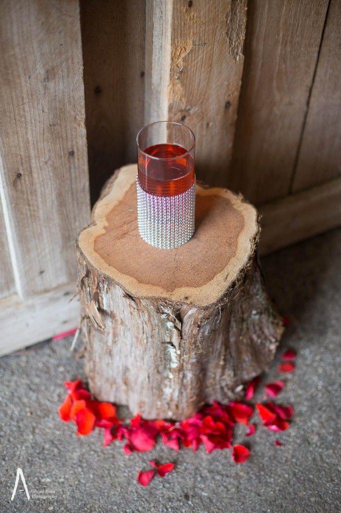 orange silver metallic fall wedding rustic industrial cedarmont franklin tn