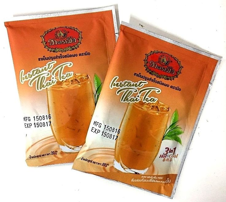 Original Thai Tea Iced Milk Powder 3 in1 Instant Hot Drink & Cold Tea Number One #NumberOneSince1945