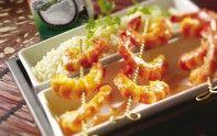 Voici une recette d'entrée parfaite pour le Nouvel An Chinois : des gambas marinées au lait de coco.
