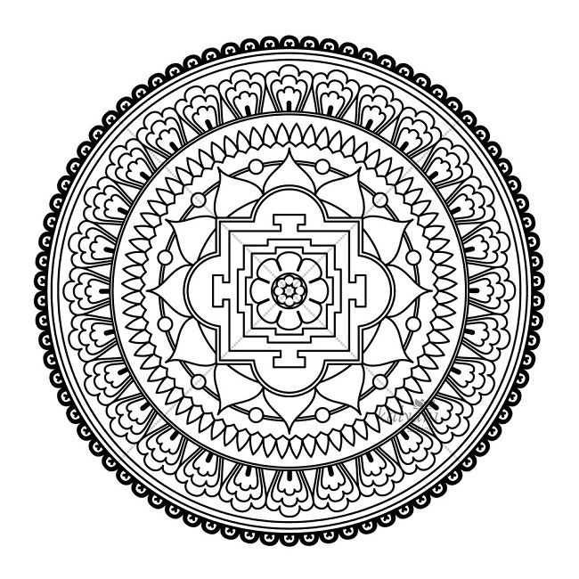 93 best images about Design on Pinterest  Tibetan mandala Moon