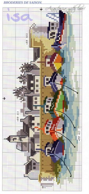 Gallery.ru / Фото #9 - Dfea 20 - nastassa cross stitch chart free marina boat light house ocean