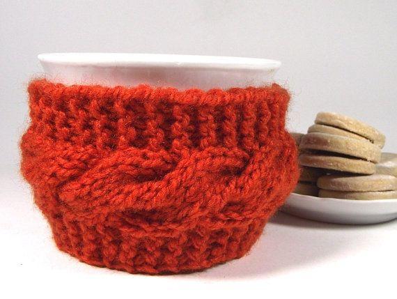KNITTING PATTERN Cozy Cup Coffee Knit Mug Cozy by LiliaCraftParty