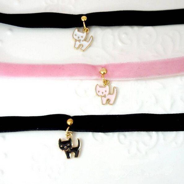 Harajuku kawaii cat necklace