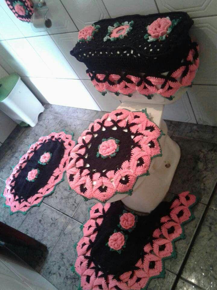 Juegos De Baño Regina:de banheiro croche dulcescreacionesdeary juego de baño tejido jogo de