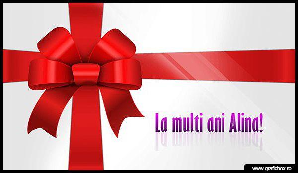 La multi ani Alina. Trimite felicitari online gratuit cu www.graficbox.ro