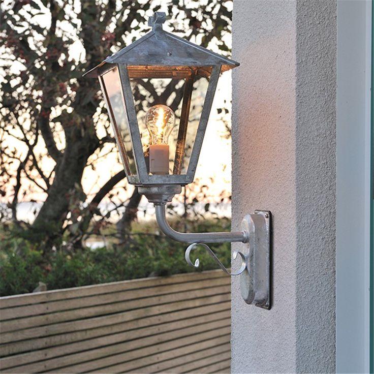 Benu Vägglykta Upp E27 Galvaniserad - Fasadbelysning - Utebelysning