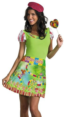 Womens Candyland Candy Land Halloween Costume M   eBay