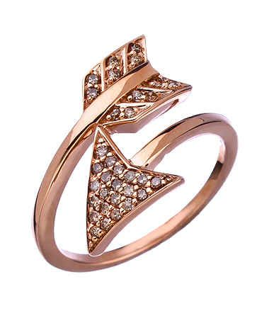 Rose Gold and Diamond Arrow Ring, $825