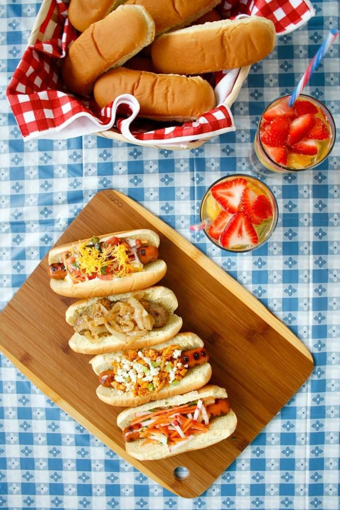 Labor Day recipe ideas: Creative hot dog recipes at coolmompicks.comAdult Parties, Dogs Parties, Gourmet Hotdog, Hot Dogs Recipe, Barbecues Menu, Gourmet Hot Dogs, Food Recipe, Cravings Gallery, Hot Dog Recipes