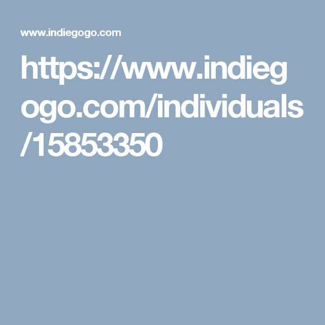 https://www.indiegogo.com/individuals/15853350