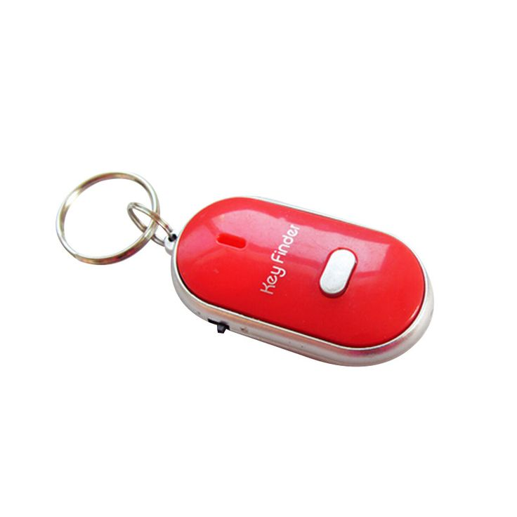 Free Shipping Hot Sale White LED Key Finder Locator Find Lost Keys Chain Keychain Whistle Sound Control 10pcs