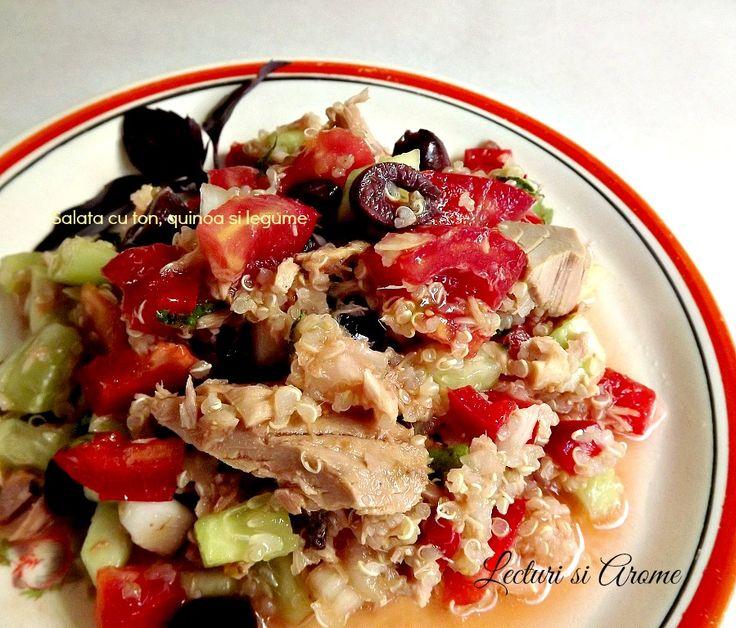 Salata cu ton, quinoa si legume