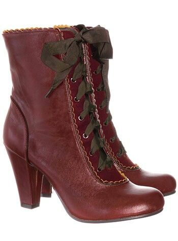 Love the colour on these Victorian style boots.