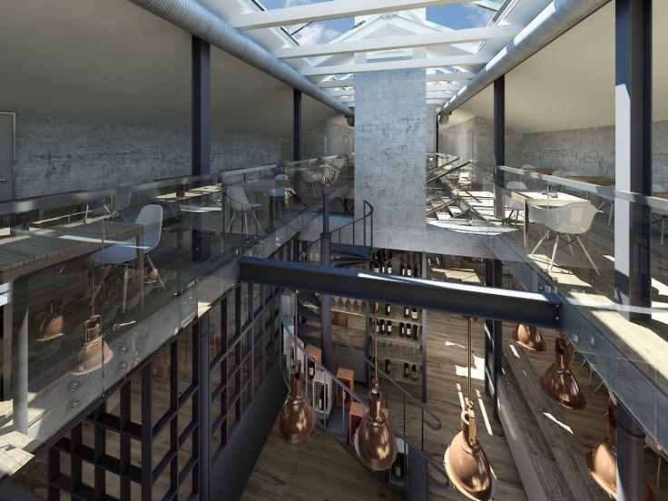 Inside the Workshop, Ząbkowska St by @Koneser #Praga #visualisation #interior