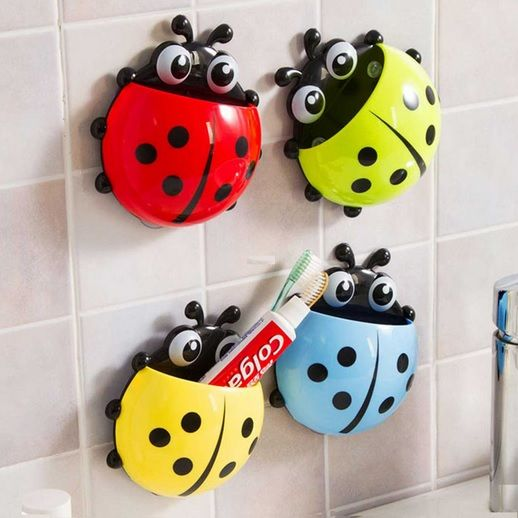Cute Ladybug Toothbrush Holder has a creative design. It can help to decorate your house. Suits for kitchen, bathroom, hotel and so on.
