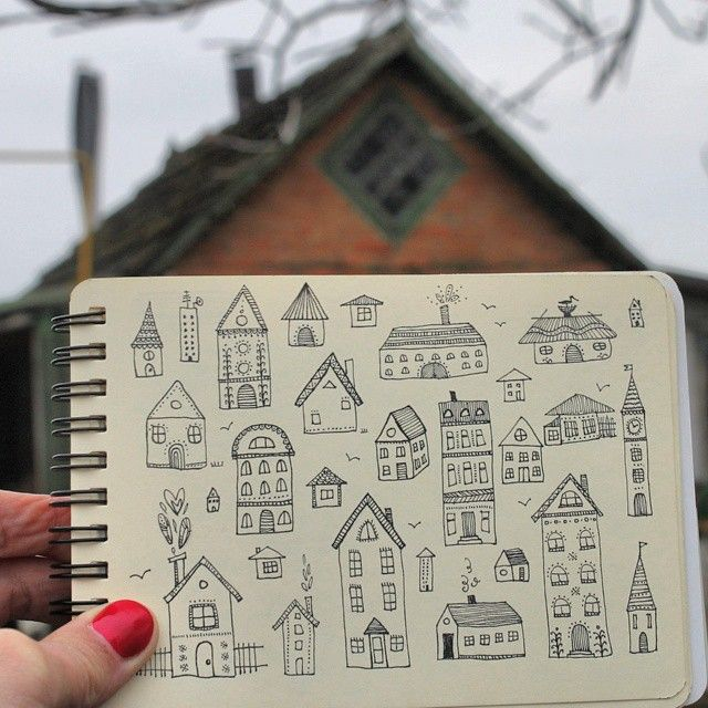 Day 8 of #The100DayProject House #100DaysOfDrawingThingsInDifferentVariations