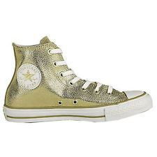 Converse ALL STAR Stingray in rilievo Metallico Oro Da Donna Scarpe da ginnastica