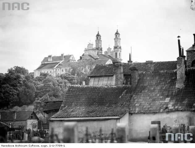 Wilno. Kościół Wniebowstąpienia Pańskiego (Misjonarzy) przy ulicy Subocz. Widok zewnętrzny 1935 06
