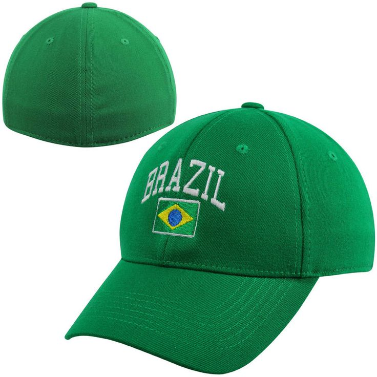 Top of the World Brazil Country 1FIT Flex Hat - Green