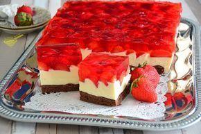 Wspaniałe i proste połączenie smaków, do tego ciasta nadadzą się każde owoce, truskawki, poziomki, wiśnie, maliny - co lubicie, bez problemó...