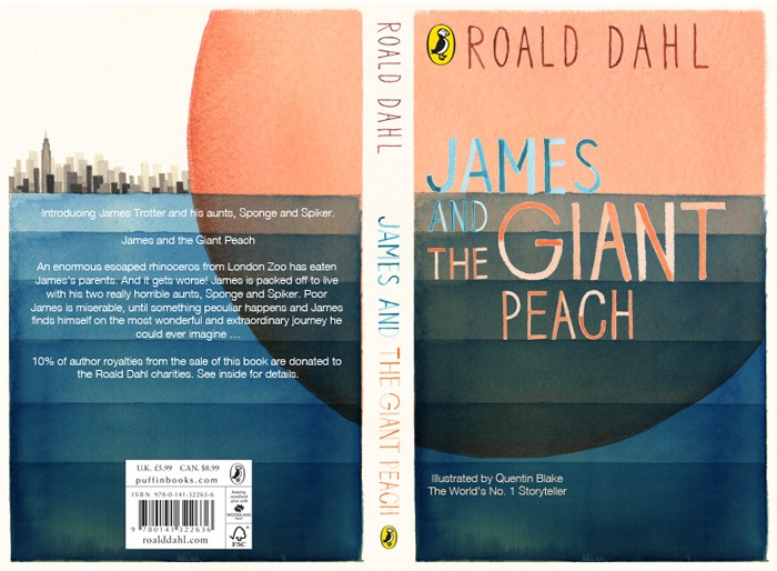 ✣ BOOK COVER ✣ James and the giant peach