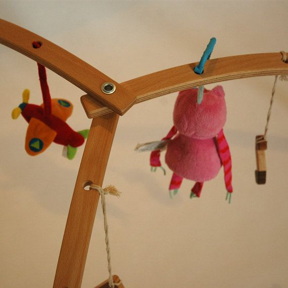 Wooden baby gym for hanging toys and mobiles. by StudioMishela