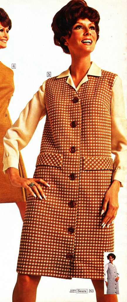 Sears 68 fw brown plaid | jsbuttons | Flickr