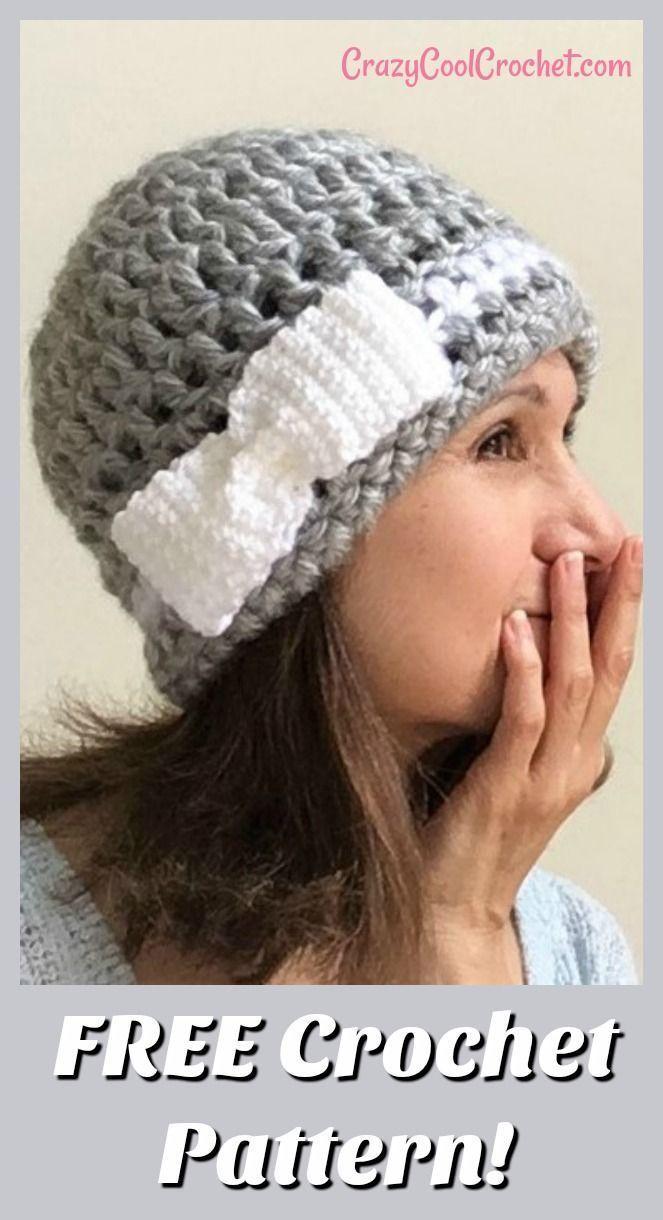 Crazy Vintage Style Hat Easy Crochet Hat Crochet Beanie Pattern