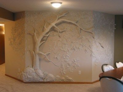 Have some drywall art at home