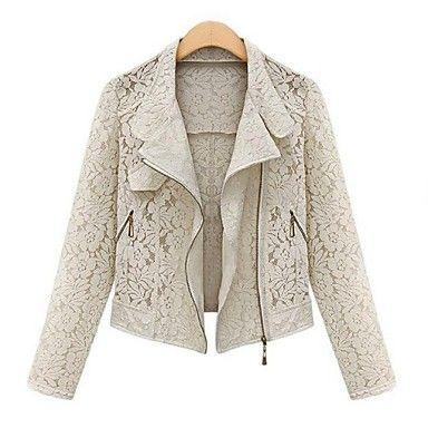 Women's+Fashion+Europe+Lace+Hollow+Short+Blazer+Outwear+–+USD+$+19.99