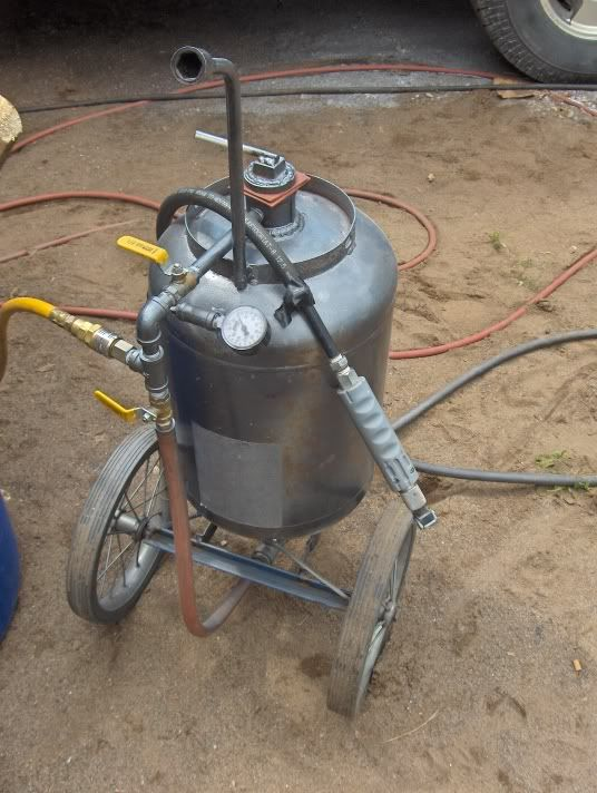 sand blaster out of propane tank