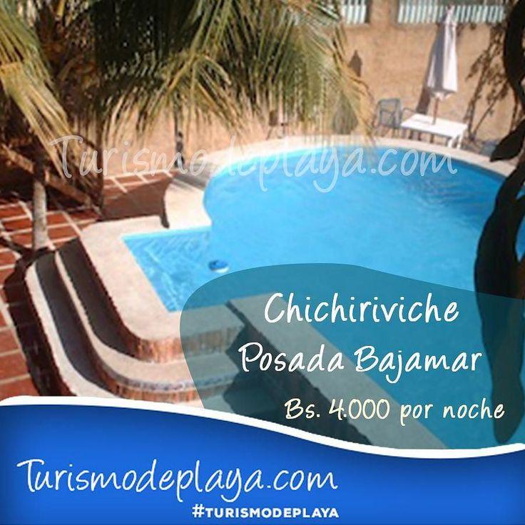 A solo 2 cuadras de la playa está la Posada Bajamar.  El precio por noche para 2 personas es de Bs. 4.000  Para reservar 0414-380.61.23  #Turismodeplaya #TurismodeplayaChichiriviche #Venezuela #Chichiriviche #Tucacas #Falcon #Relax #Findesemana #Playa #Sol #Arena #Familia #Amigos #Posadas #Diversion #Hospedaje #Confort #Lujos #Destinos #Vacaciones #Hoteles #Seriedad #Viajes #Morrocoy by turismodeplaya
