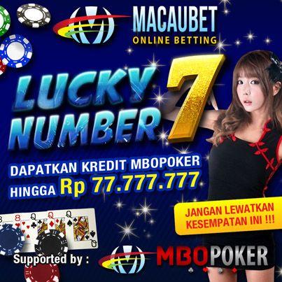 Angka 7 membawa Keberuntungan.. dengan total hadiah lebih besar dari yang sebelumnya.. jangan lewatkan kesempatan ini.. untuk keterangan selengkapnya silahkan akses situs www.macaubet.com. Terima kasih!!!
