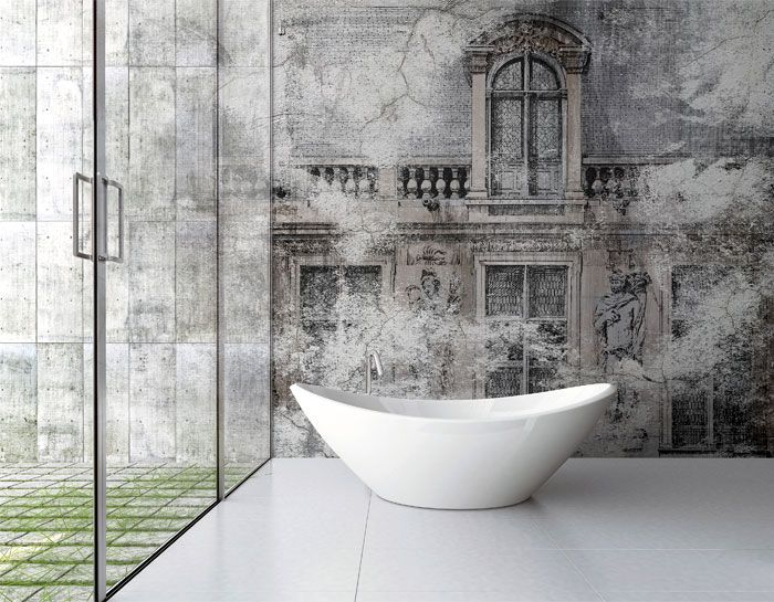Photo On Wall Covering Suitable to Bathrooms