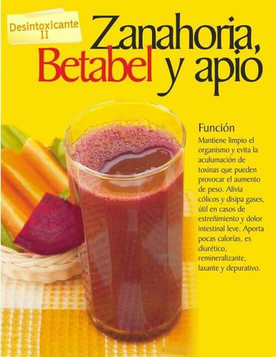 Zanahoria, Betabel y Apio. Desintoxicación II