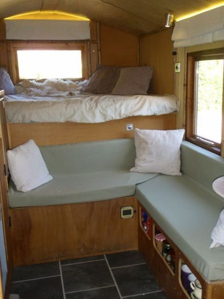 4x4 off road micro cabin truck motorhome 007   Handmade Micro Cabin Built on a 4x4 Diesel Truck For Sale