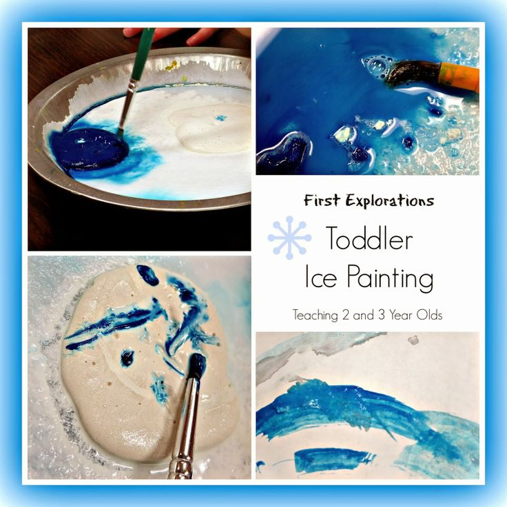 Teaching 2 and 3 Year Olds: Toddler Ice Painting