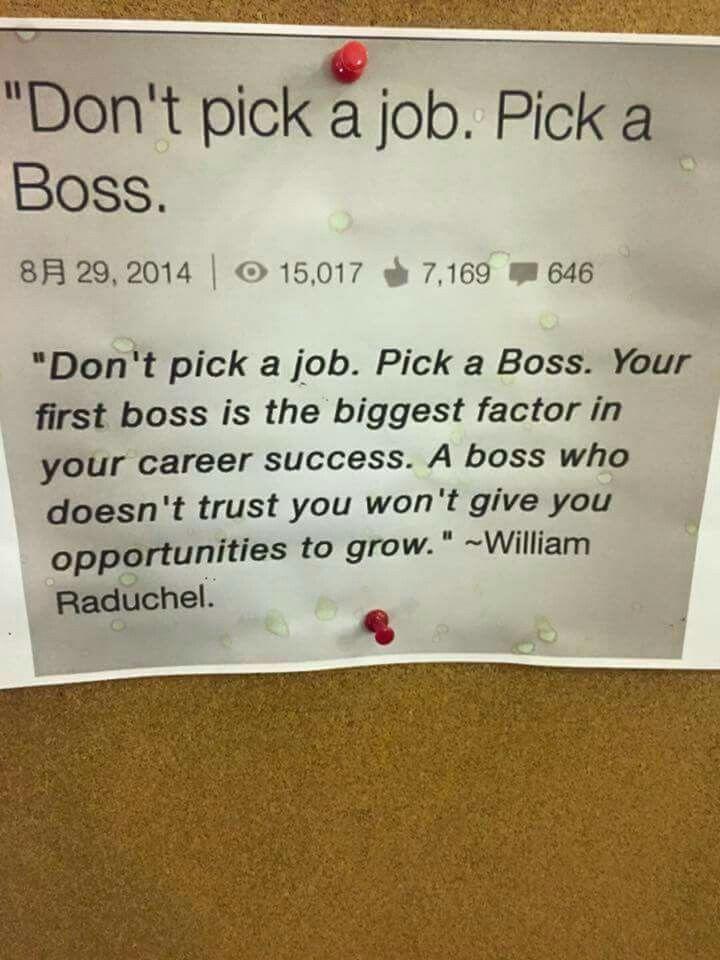 job hopping resume%0A Don u    t pick a job  pick a boss