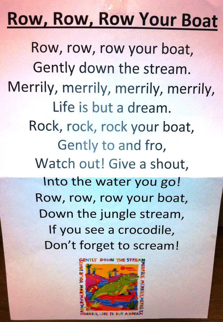 Itty Bitty Rhyme: Row, Row, Row Your Boat