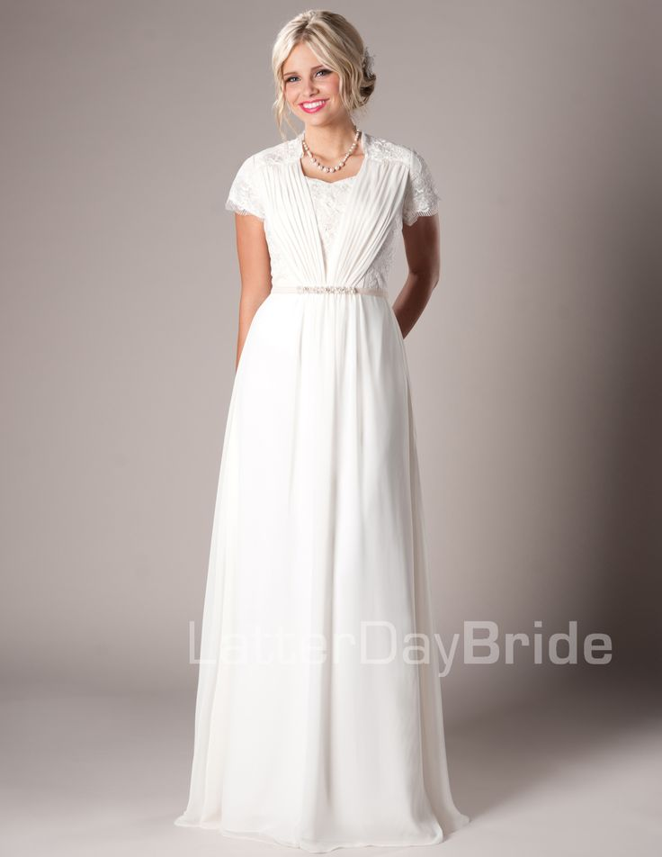 Mormon wedding dresses for women for Mormon temple wedding dresses