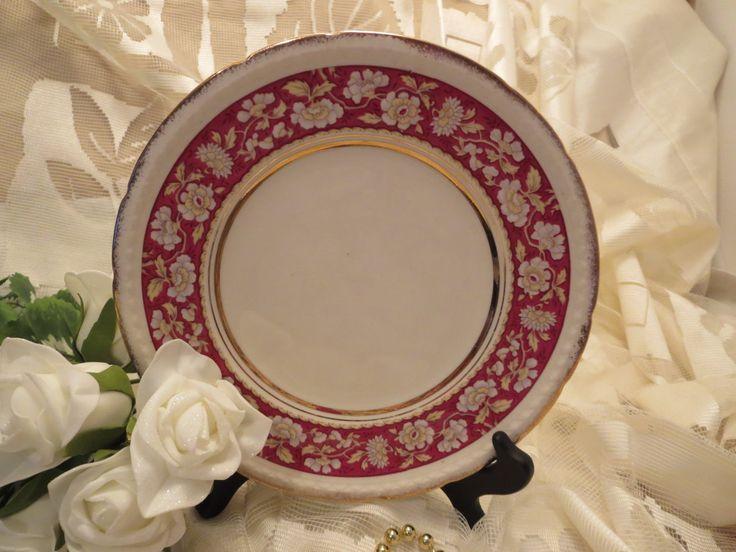 Beautiful Salad Plate - Swinnertons Staffordshire England - Majestic Vellum by AntiquesandCoinsJL on Etsy