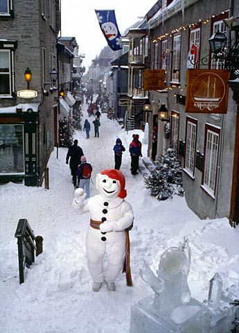 Carnaval in the town of Québec, over two hours away from Montreal by car.
