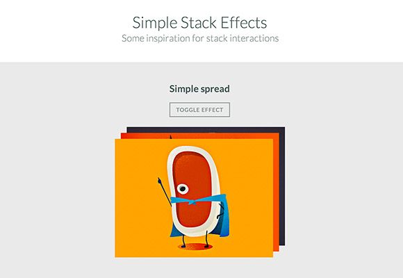 A set of simple stack effects on thumbnails created with CSS. Free snippet released by Codrops.