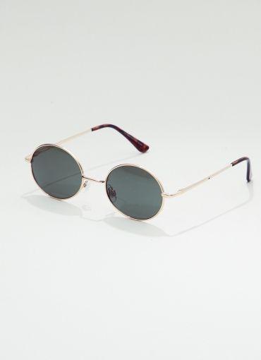 90S Classic Retro Oval Sunglasses - Gold-Green