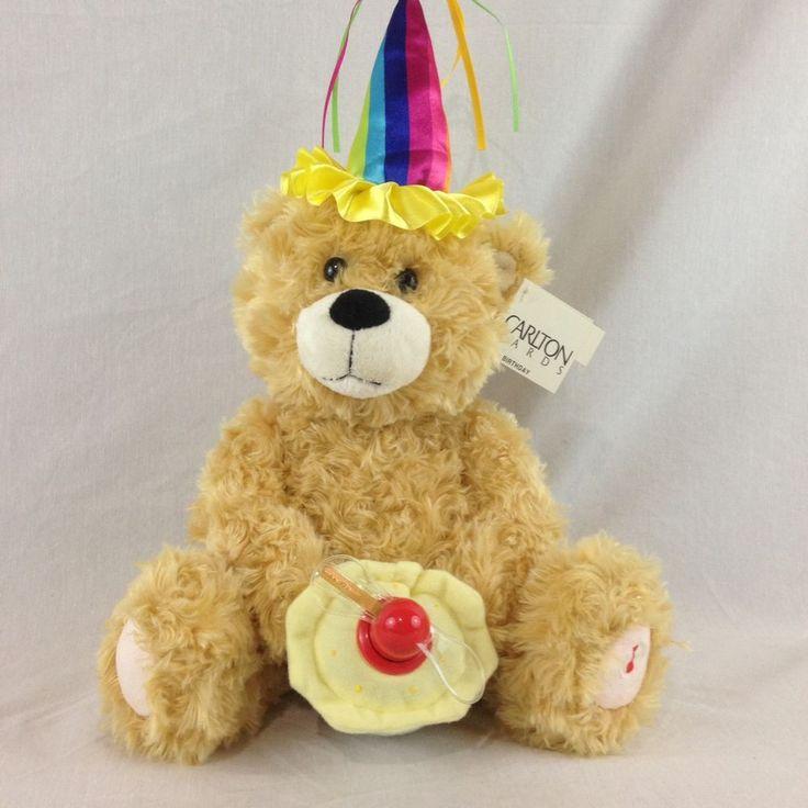 NWT Carlton Cards Animated Bear Sings The Beatles Birthday Song Plush Stuffed | Dolls & Bears, Bears, Other Plush Bears | eBay!
