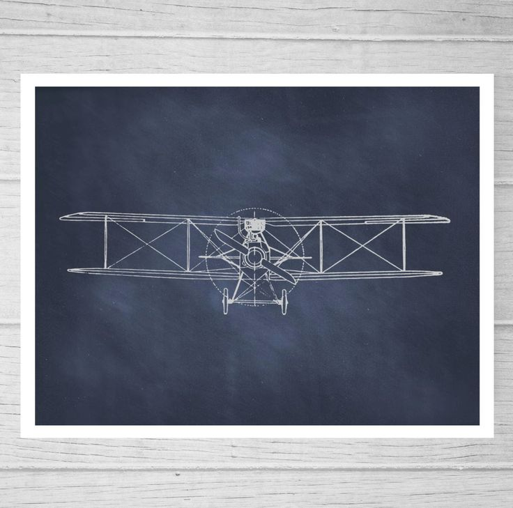 Aviation BiPlane Blueprint Wall Art. Airplane print by AlaskaBay, $10.00