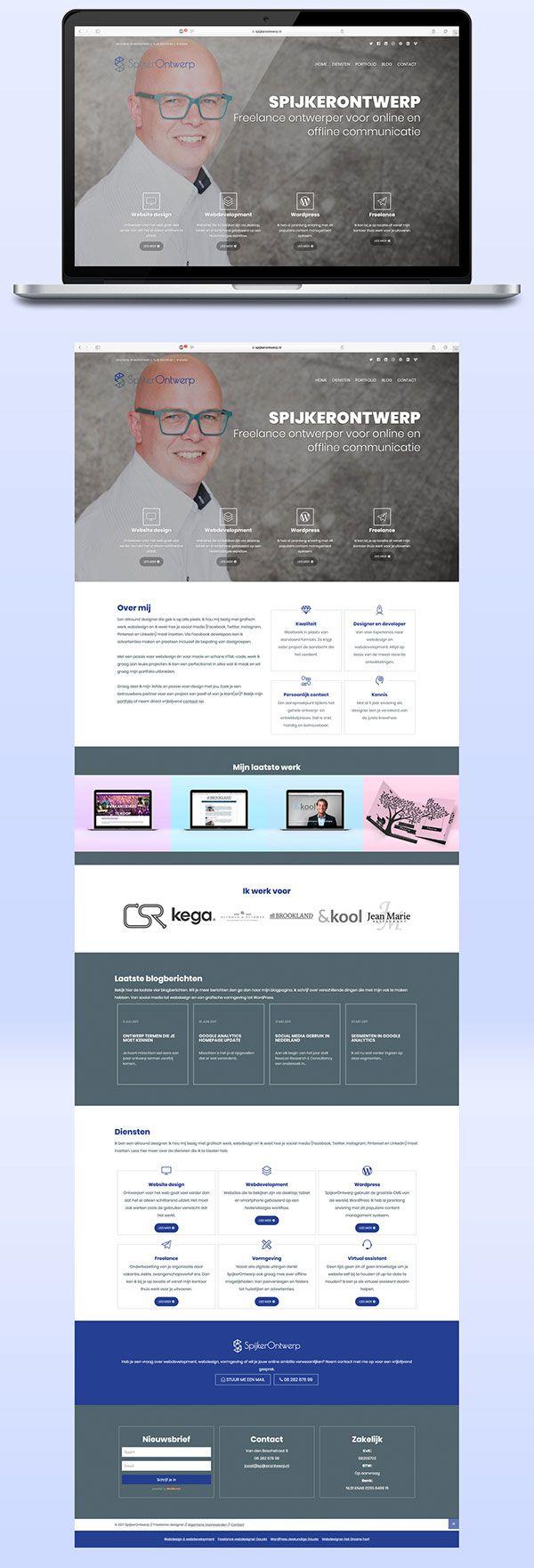 Responsive website voor mijn bedrijf SpijkerOntwerp. Met een aparte portfolio pagina en blog-pagina. Gemaakt in HTML/CSS en uiteindelijk omgezet naar Wordpress. #website #webdesign #responsive #wordpress #design